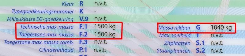 Maximaal gewicht caravan