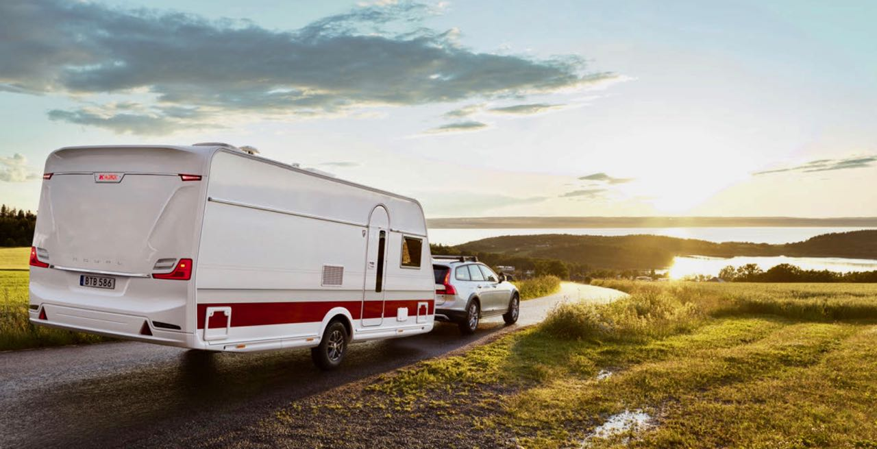 Met de caravan op vakantie