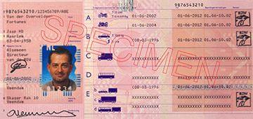 Papieren Rijbewijs niet meer geldig